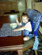 INSTANT HIGH CHAIR:  CONVERT A CHAIR FOR BABY'S USE